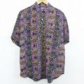 L★古着 半袖 シャツ 90年代 90s 紫他 パープル 【spe】 20apr08 中古 メンズ トップス