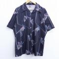 L★古着 半袖 シャツ 70年代 70s 黒 ブラック 20apr23 中古 メンズ トップス
