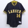 M★古着 半袖 ベースボール シャツ 90年代 90s デロング LAHSER 黒 ブラック 20jul16 中古 メンズ トップス