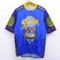 XL★古着 半袖 サイクリング シャツ ビール イタリア製 青他 ブルー 20aug07 中古 メンズ トップス