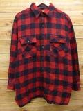 XL★古着 長袖 ビンテージ ウール シャツ 40年代 タウンクラフト 赤 レッド 【spe】 18jan23 中古 メンズ トップス