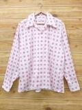XL★古着 長袖 ビンテージ シャツ 70年代 マンハッタン 白 ホワイト 18jun12 中古 メンズ トップス