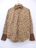 M★古着 長袖 ビンテージ シャツ 60年代 花 ベージュ カーキ 【spe】 19feb01 中古 メンズ トップス