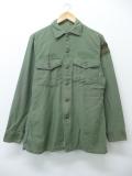 M★古着 ビンテージ ミリタリー シャツ 60年代 陸軍機甲学校 ユーティリティ USA製 緑 グリーン 19aug26 中古 メンズ トップス
