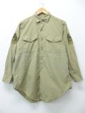 M★古着 ビンテージ ミリタリー シャツ 60年代 USA製 ベージュ カーキ 19aug26 中古 メンズ トップス
