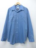 XL★古着 ビンテージ シャツ 60年代 大きいサイズ 薄紺 ネイビー 19aug26 中古 メンズ トップス