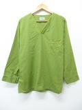 L★古着 長袖 ビンテージ パジャマ トップス 70年代 緑 グリーン 19sep05 中古 メンズ
