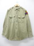 L★古着 長袖 ビンテージ ミリタリー シャツ 60年代 海軍 USA製 ベージュ カーキ 19sep05 中古 メンズ トップス