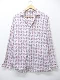M★古着 長袖 ビンテージ パジャマ シャツ 60年代 白 ホワイト 【spe】 19sep05 中古 メンズ トップス