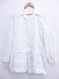 L★古着 長袖 ビンテージ シャツ 50年代 開襟 オープンカラー 白 ホワイト 19oct18 中古 メンズ トップス