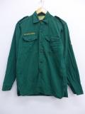 S★古着 長袖 ビンテージ ボーイスカウト シャツ 60年代 カナダ 緑 グリーン 19oct18 中古 メンズ トップス