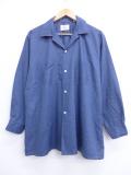 L★古着 長袖 ビンテージ シャツ 60年代 アロー 開襟 オープンカラー USA製 濃グレー 19oct18 中古 メンズ トップス
