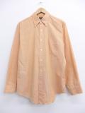 L★古着 長袖 ビンテージ シャツ 70年代 ボタンダウン オレンジ 19oct18 中古 メンズ トップス