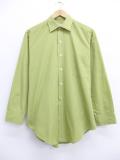 L★古着 長袖 ビンテージ シャツ 70年代 シアーズ 緑 グリーン 19oct18 中古 メンズ トップス