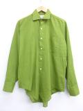 L★古着 長袖 ビンテージ シャツ 70年代 タウンクラフト ペニーズ 緑 グリーン 19oct18 中古 メンズ トップス
