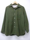L★古着 長袖 ビンテージ ウール シャツ 60年代 USA製 緑 グリーン オーバー チェック 19nov01 中古 メンズ トップス