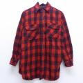 M★古着 長袖 ビンテージ ウール シャツ 60年代 60s ヘラクレス 赤 レッド バッファロー チェック 20feb25 中古 メンズ トップス