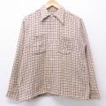 M★古着 長袖 ビンテージ シャツ 50年代 50s 薄ピンク他 チェック 20oct26 中古 メンズ トップス