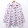 XL★古着 長袖 ビンテージ パジャマ シャツ 70年代 70s 白他 ホワイト 20nov26 中古 メンズ トップス