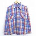 L★古着 長袖 ビンテージ フランネル シャツ 70年代 70s ビッグマック BIG MAC 紺他 ネイビー チェック 20dec04 中古 メンズ トップス