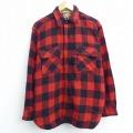 L★古着 長袖 ビンテージ ウール シャツ 60年代 60s カーターズ 赤他 レッド バッファロー チェック 20dec04 中古 メンズ トップス