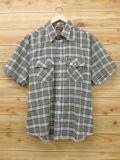 L★古着 半袖 ウエスタン シャツ 80年代 RUSTER USA製 緑 グリーン チェック 18apr17 中古 メンズ トップス