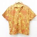 L★古着 半袖 ビンテージ シャツ 60年代 60s ピューリタン 総柄 USA製 黄他 イエロー 【spe】 21apr12 中古 メンズ トップス