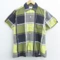 L★古着 半袖 ビンテージ シャツ 60年代 60s USA製 緑他 グリーン チェック 【spe】 21apr13 中古 メンズ トップス