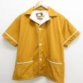 L★古着 モンゴメリーワード 半袖 ビンテージ ビーチ シャツ メンズ 70年代 70s 内側パイル地 茶 ブラウン 21jun16 中古 トップス
