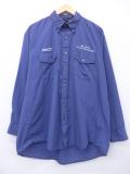 L★古着 長袖 ワーク シャツ デルタ航空 大きいサイズ 紺 ネイビー チェック 19sep03 中古 メンズ トップス