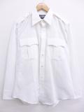 L★古着 長袖 ワーク シャツ 90年代 USA製 白 ホワイト 19sep16 中古 メンズ トップス