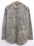 XL★古着 長袖 シャツ 90年代 リアルツリー コットン USA製 迷彩 19sep16 中古 メンズ トップス
