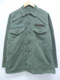 L★古着 長袖 ミリタリー シャツ 70年代 アーミー ARMY コットン 緑 グリーン 19oct18 中古 メンズ トップス