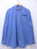 XL★古着 長袖 ワーク シャツ マーキュリーアウトボード ロング丈 大きいサイズ ボタンダウン デニム 19oct31 中古 メンズ トップス