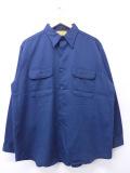 XL★古着 長袖 ワーク シャツ 80年代 ビッグヤンク USA製 紺 ネイビー 19oct31 中古 メンズ トップス