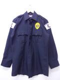 L★古着 長袖 ワーク シャツ セキュアアメリカ ロング丈 黒 ブラック 19oct31 中古 メンズ トップス