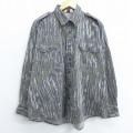 XL★古着 長袖 シャツ 90年代 90s カベラス リアルツリー 大きいサイズ USA製 グレー他 迷彩 21feb04 中古 メンズ トップス
