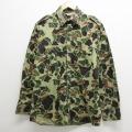 L★古着 長袖 ハンティング シャツ 90年代 90s Walls コットン USA製 緑 グリーン 迷彩 21apr05 中古 メンズ トップス