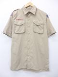 L★古着 半袖 ボーイスカウト シャツ ニュージャージー 男性 ベージュ カーキ 19aug23 中古 メンズ トップス