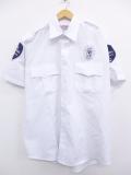 XL★古着 半袖 ワーク シャツ セキュリティ 地球 白 ホワイト 19aug26 中古 メンズ トップス
