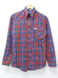 XS★古着 長袖 ウエスタン シャツ 80年代 ラングラー Wrangler USA製 赤他 レッド チェック 18nov16 中古 メンズ トップス