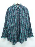 XL★古着 長袖 ウエスタン シャツ ELY ロング丈 大きいサイズ 黒他 ブラック 18nov16 中古 メンズ トップス