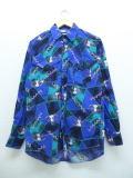 M★古着 長袖 ウエスタン シャツ 90年代 ラングラー Wrangler バッファロースカル USA製 青 ブルー 【spe】 18nov16 中古 メンズ トップス
