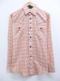 L★古着 長袖 ウエスタン シャツ 80年代 USA製 ピンク系 チェック 19sep12 中古 メンズ トップス