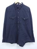 XL★古着 長袖 ウエスタン シャツ 90年代 DAKOTA USA製 黒 ブラック 19oct03 中古 メンズ トップス
