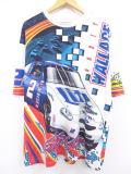 XL★古着 ビンテージ Tシャツ 90年代 レーシングカー ミラーライト 全面プリント 大きいサイズ USA製 白他 ホワイト 19jul24 中古 メンズ