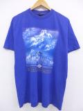 L★古着 ハーレーダビッドソン Harley Davidson Tシャツ バイク 山 USA製 紫系 パープル 19aug21 中古 メンズ
