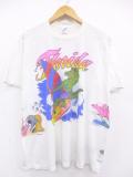 XL★古着 ビンテージ Tシャツ 90年代 フロリダ ワニ ヤシの木 マルチプリント USA製 白 ホワイト 【spe】 19aug21 中古 メンズ