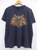 XL★古着 ビンテージ ハーレーダビッドソン Harley Davidson Tシャツ 90年代 オーストラリア ワシ USA製 黒 ブラック 19aug21 中古 メンズ