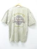 XL★古着 ビンテージ ハーレーダビッドソン Harley Davidson Tシャツ 90年代 モーターサイクル アリゾナ ベージュ カーキ タイダイ 19aug30 中古 メンズ